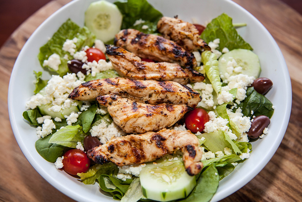 Grilled Greek Salad Recipe — Dishmaps