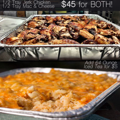 Jerk Chicken & Mac Trays